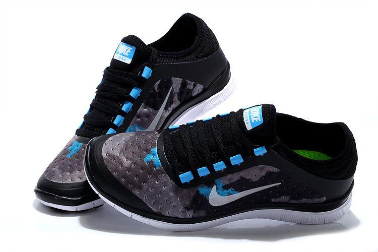 Nike Free 3.0 V7 Mens Light Blue Low Black Silver Grey GREAT SHOES CHEAP  SALE