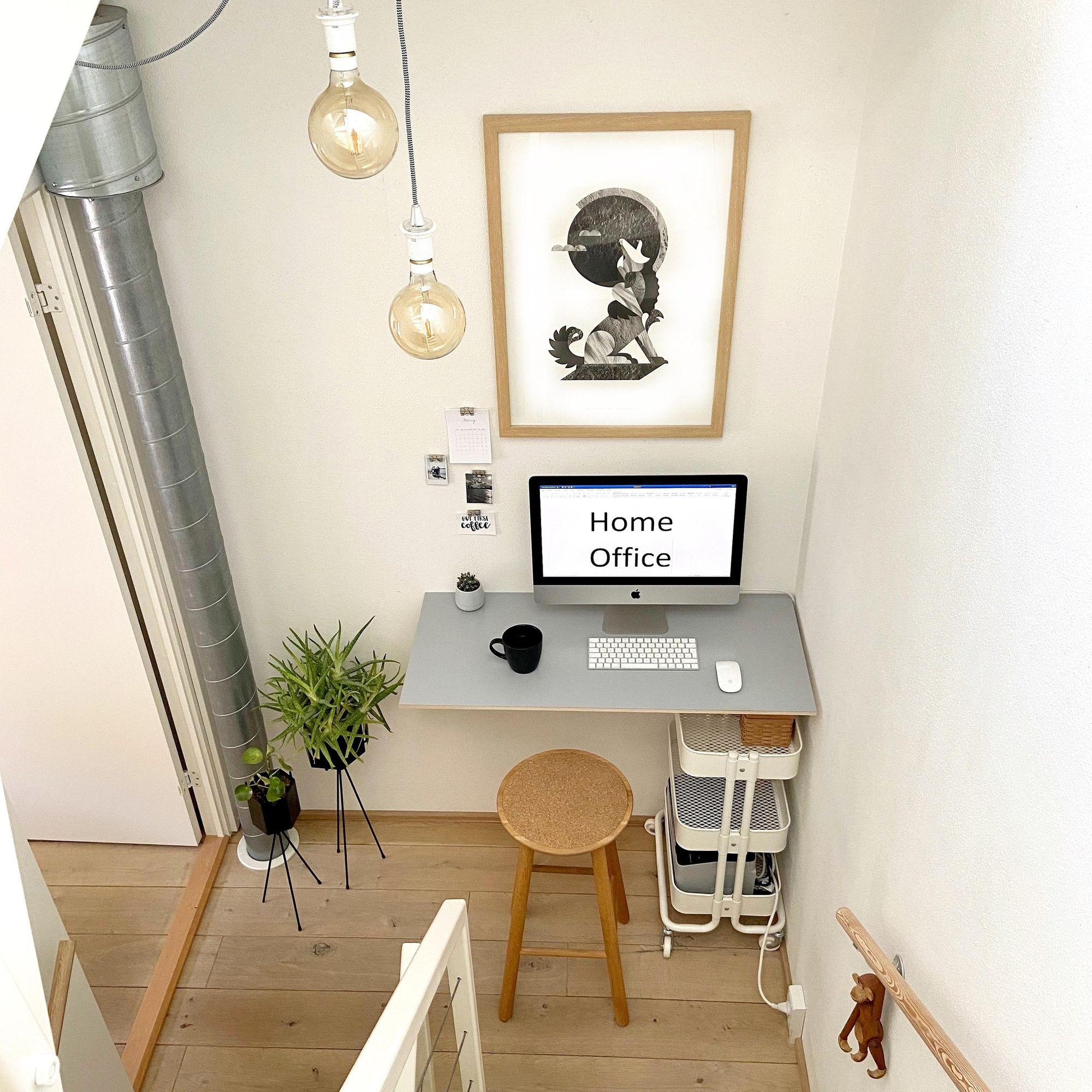 Homeoffice Arbeitsplatz Workspace Arbeitszimmer Einrichten Schreibtisch Unter Der Treppe Haus Deko