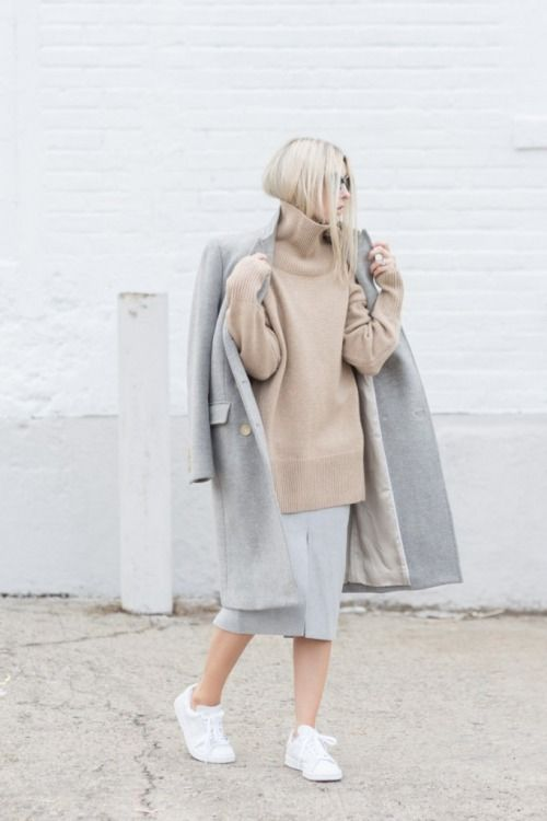 Everyone can wear grey and camel, just find the right undertone for your natural complexion. www.stylestaples.com.au