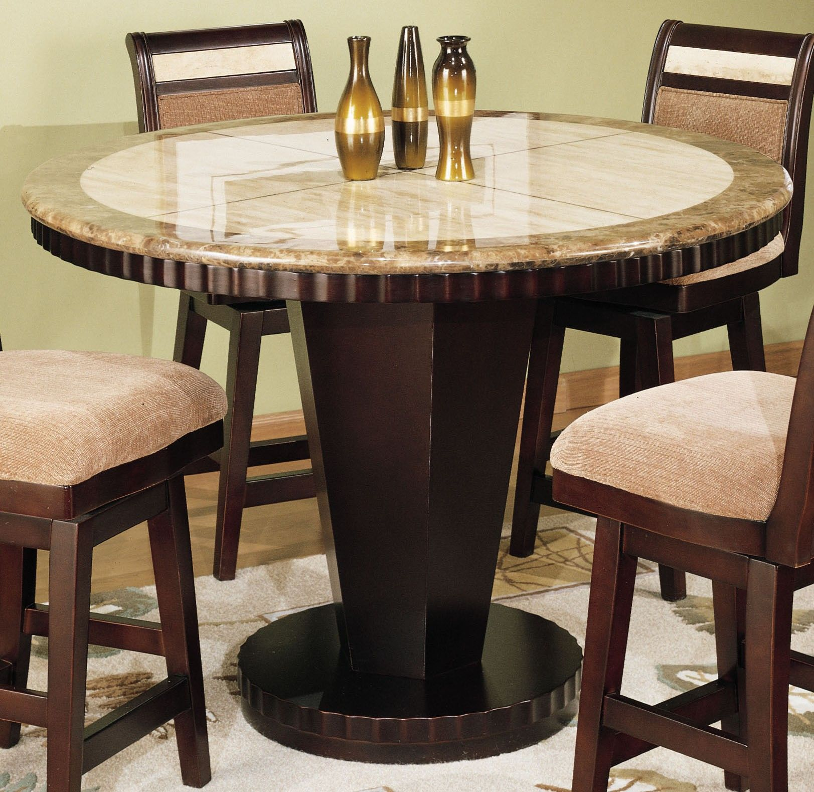 Round Marble Top Dining Table Picture Of Armen Living Corallo Counter Height Round