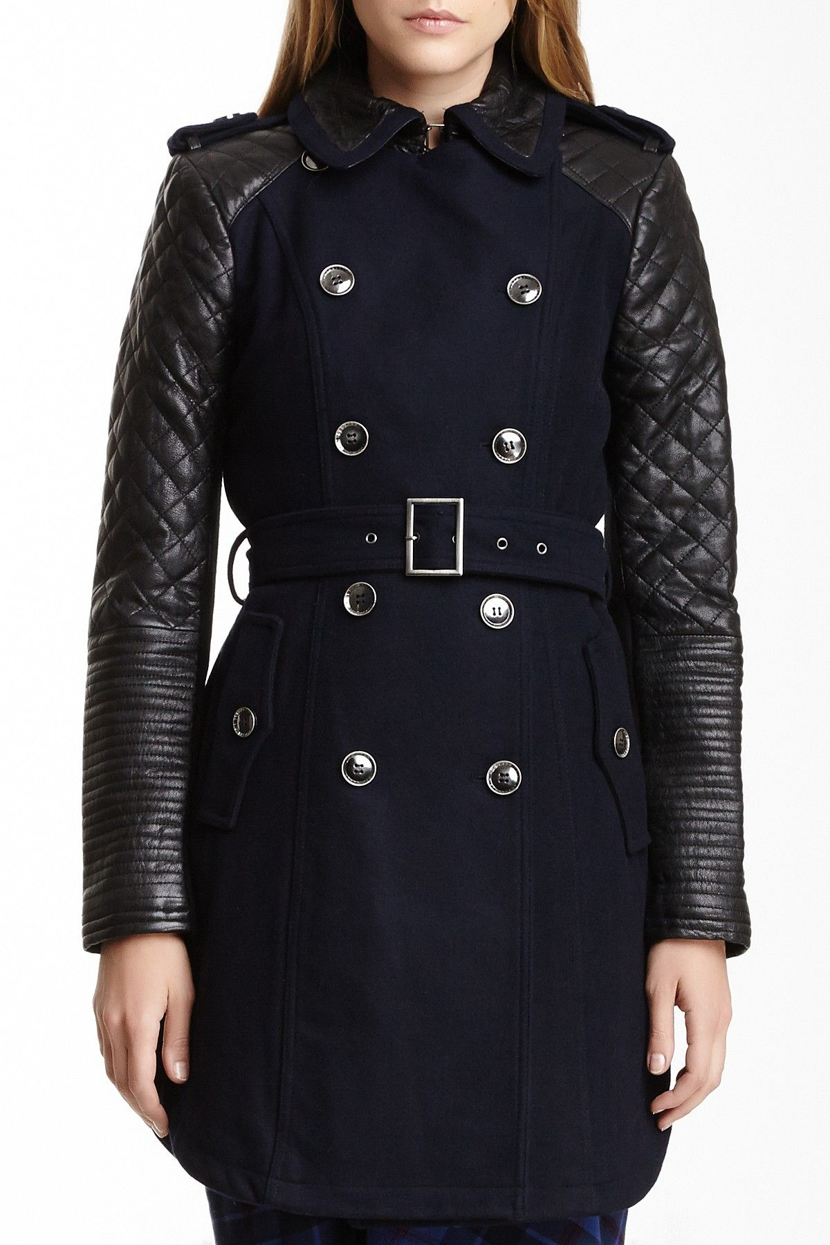 BCBG wool trench coat <3