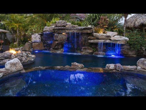 construccion de una cascada - fuente - waterfall - YouTube Mi - cascadas en jardines