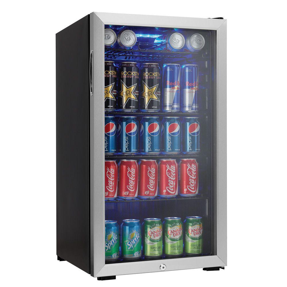 Danby Freestanding Beverage Center Dbc120bls Beverage Center Stainless Steel Mini Fridge Beverage Refrigerator