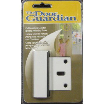 Amazon Com The Door Guardian Childproofing Lock Colors White Baby Childproofing Doors Safety Cover