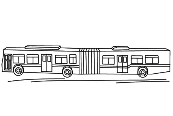 Folding Bellows City Bus Coloring Pages Netart Coloring Pages Color Bus