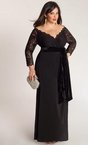 Igigi Anastasia Plus Size Gown In Onyx 295 Fashion Beep Beep