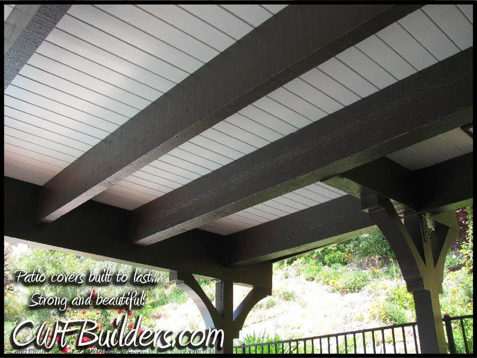 Paint Underside Of Deck To Make A Patio Quot Roof Quot They Used