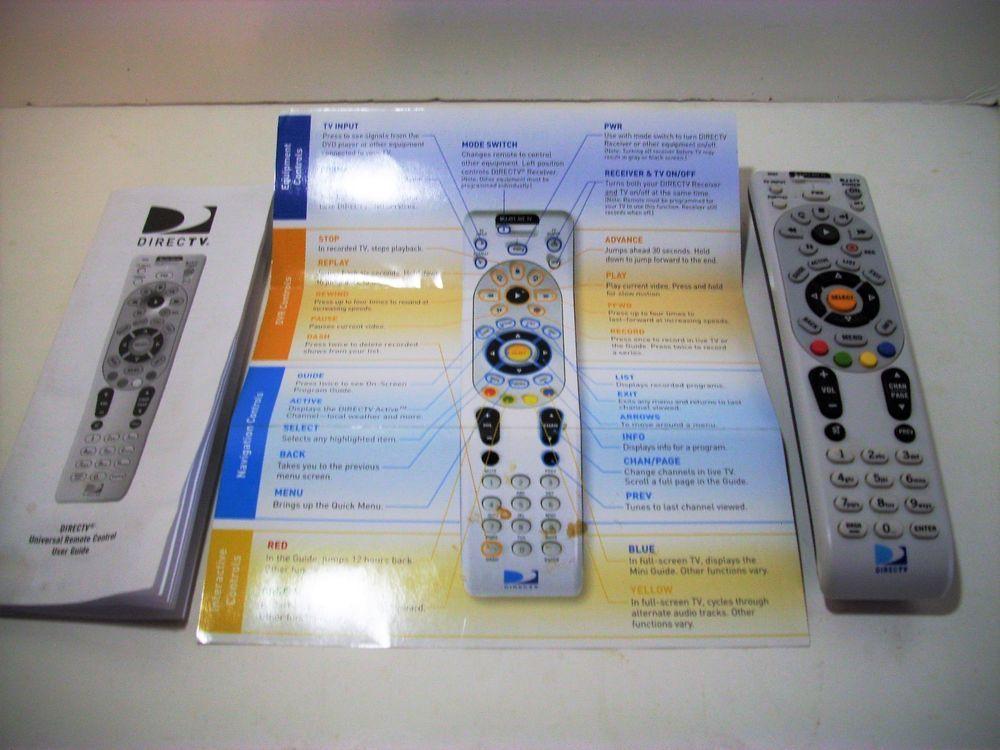 Directv Remote Control, RC64, Free Universal User Guide