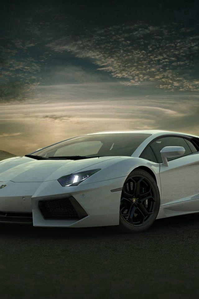 Lamborghini Car Exotic White Art Iphone 4s Wallpaper Iphone 4 S