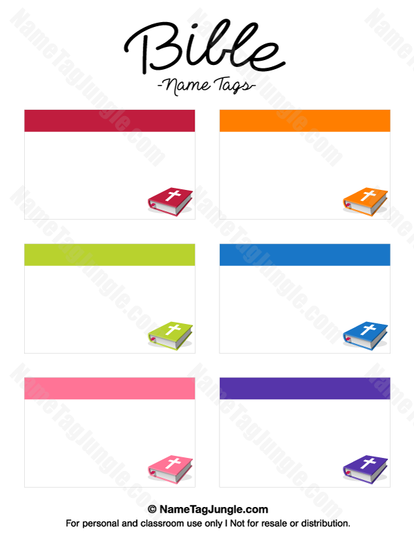 Free Printable Bible Name Tags The Template Can Also Be Used For - Sample name tag templates