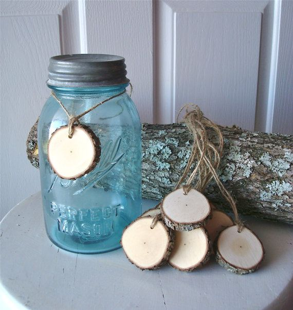 Crafts For Weddings Rustic: Rustic Wood Tags Crafts Weddings Decor DIY Tree By