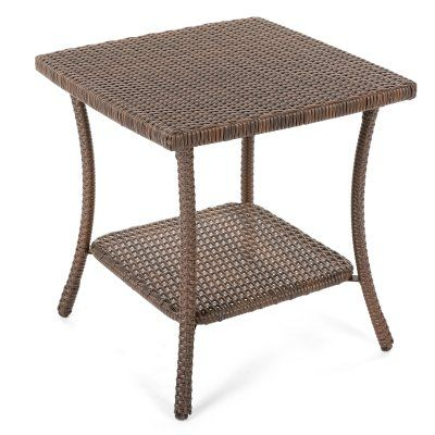 Outdoor W Unlimited Leisure Patio End Table Wicker Side Table