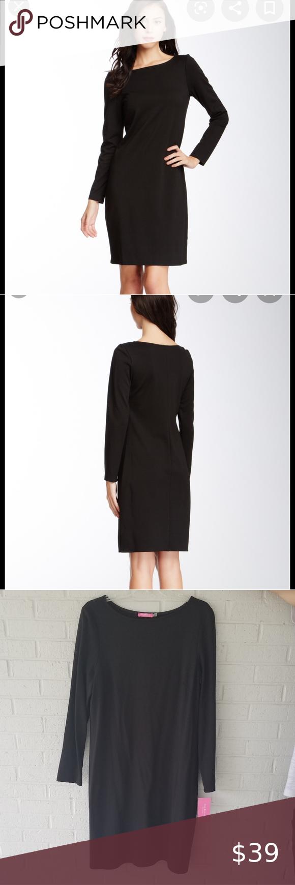 Sold Isaac Mizrahi Nwt Black Dress Long Sleeve Sheath Dress Black Dress Clothes Design [ 1740 x 580 Pixel ]