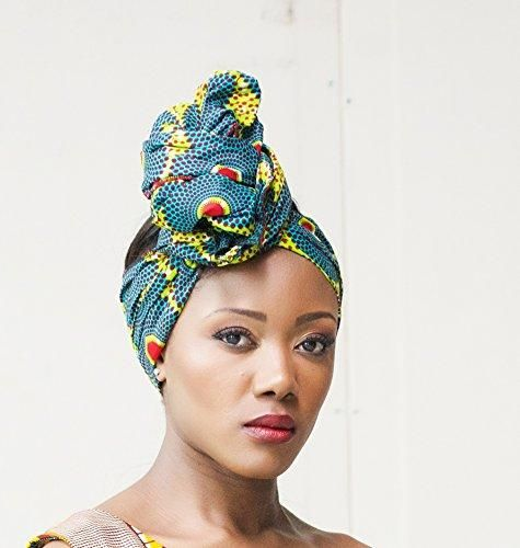 Headwrap   african print headwrap  turban   Headtie   ankara headscarf    African headtie   wax print headwrap  headscarf - Green Envy 86ef1c081a35