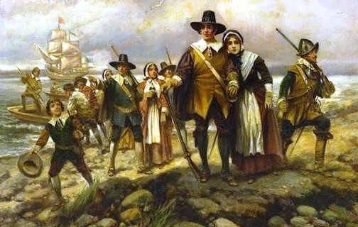 Picture of the Landing at Plymouth Rock | Historic United States ...