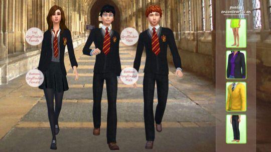 Harry Potter Uniforms Harry Potter Uniform Sims Sims 4