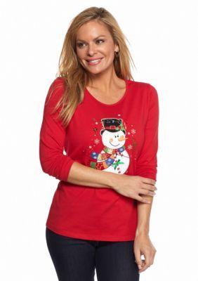 Kim Rogers  Petite Long Sleeve Christmas Tee