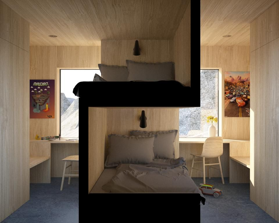 Perfect Solution For Two Kids Sharing One Bedroom Bunk Bed Designs Bedroom Design Sibling Bedroom