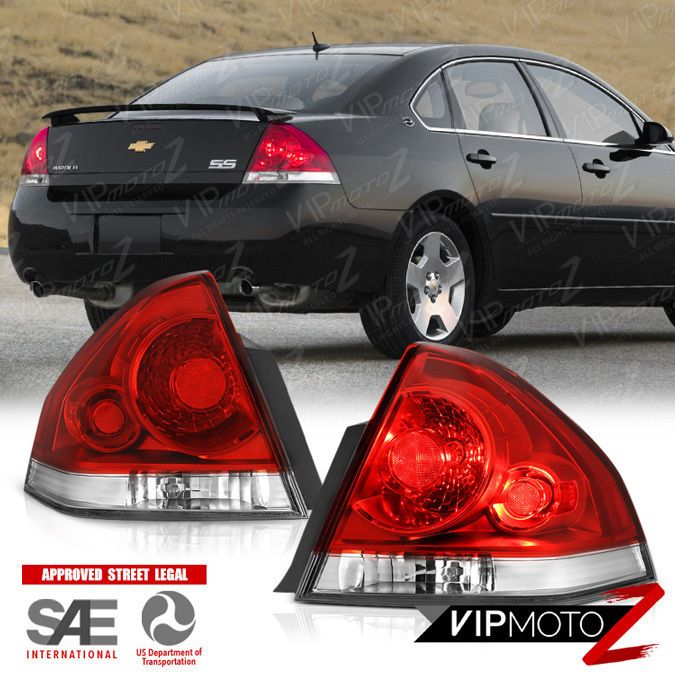 LEFT+RIGHT 2006-2013 Chevy Impala Factory Style Red Tail Lights