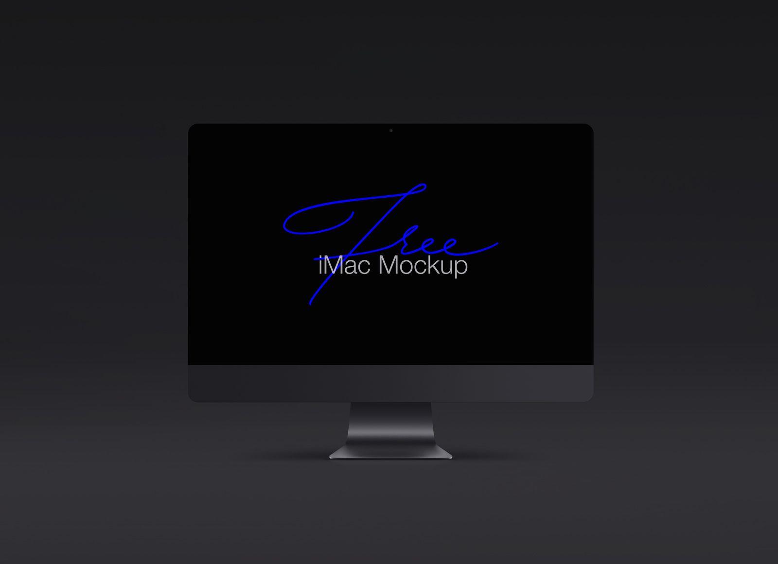 Free Black Apple Imac Pro Mockup Psd Template Imac Black Apple Ipad Pro Apple Pencil