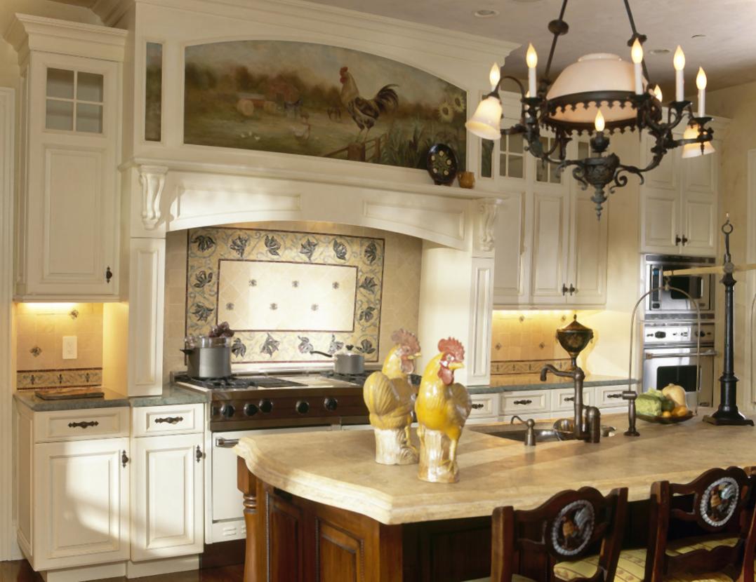 Kitchen fashionable english country kitchen cabinets for Small country kitchen decorating ideas