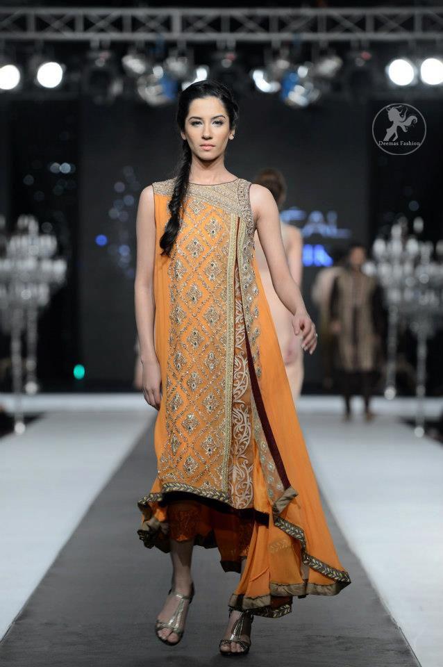 e495c66846 Orange Side Open and Sides Down Frock And Capri. Orange Side Open and Sides  Down Frock And Capri Anarkali Bridal, Anarkali Dress, Pakistani