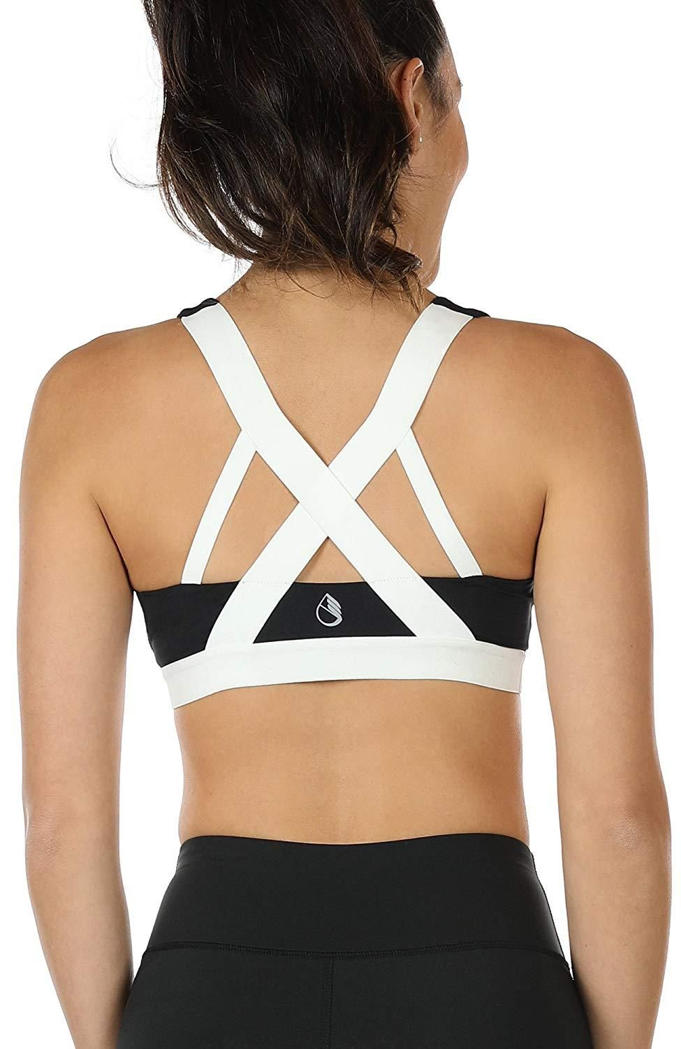d0a5643c742 icyzone Women's Workout Yoga Clothes Activewear Racerback Strappy Sports  Bras