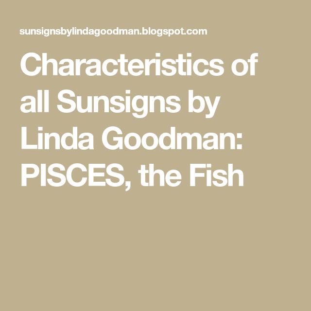 Linda goodman pisces