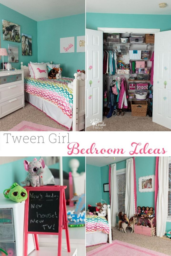 Teal Bedroom for Girls Storage Ideas