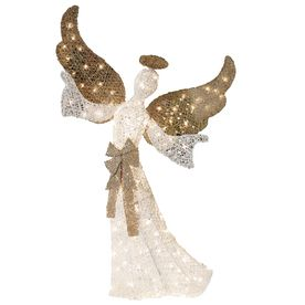 Wonderful Holiday Living Lighted Angel Outdoor Christmas Decoration With White  Incandescent Lights
