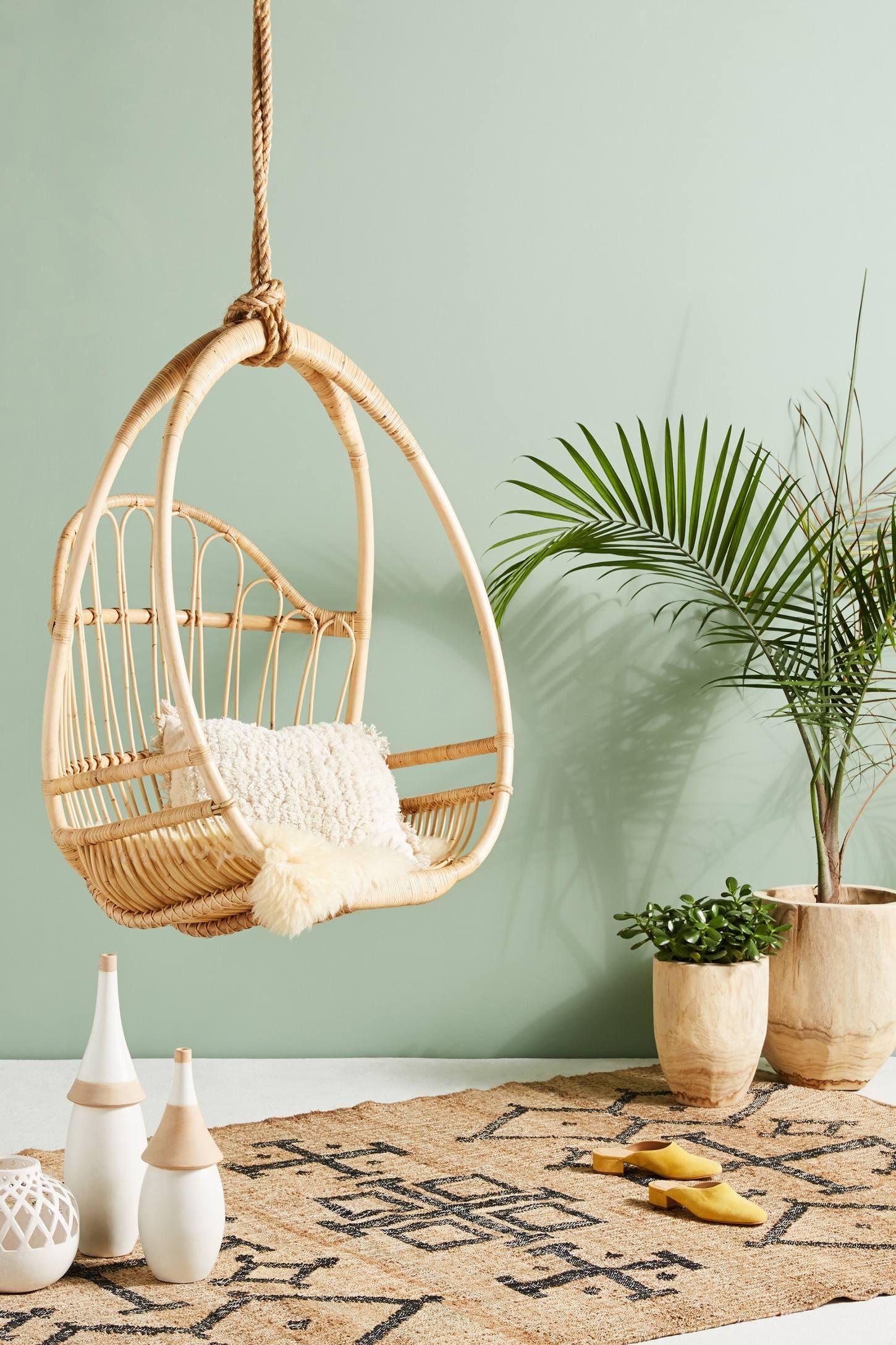 Woven Hanging Chair home living Pinterest