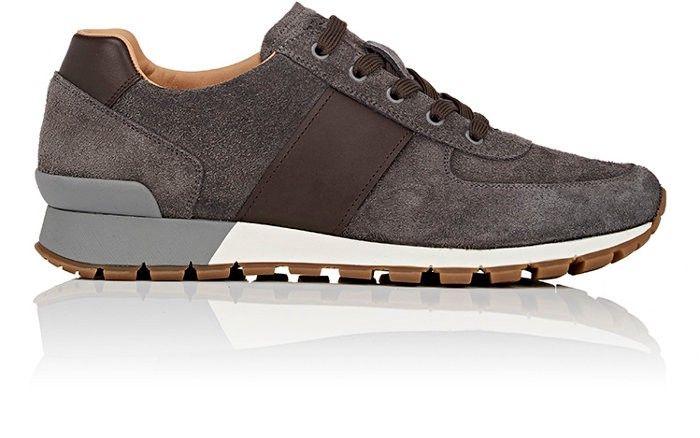 PRADA Suede \u0026 Leather Sneakers. #prada