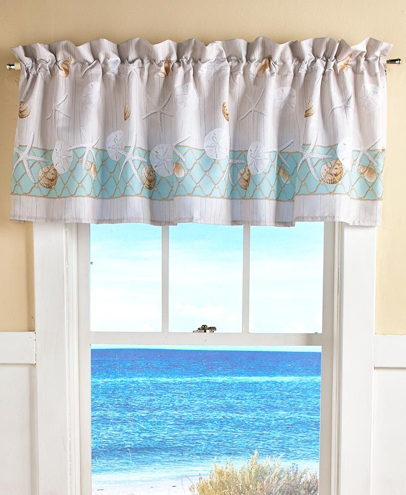 Nantucket Bathroom Collection Nautical Decor Bedroom Valance
