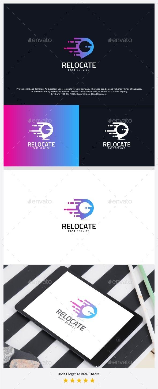 relocate fast pin logo design template symbols logo design