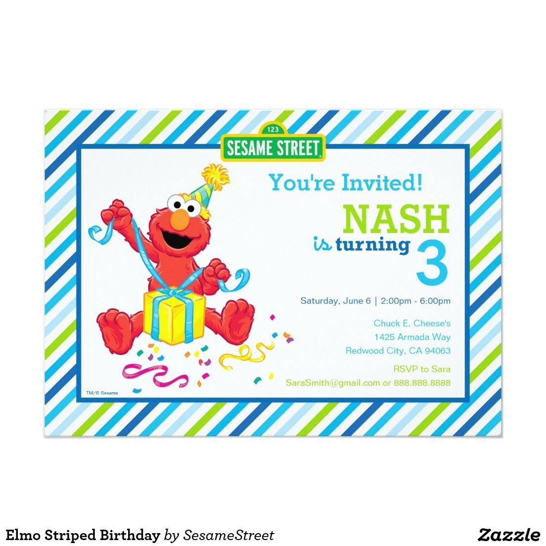 Elmo Boy\'s Birthday Card | Invitations, Paper and Birthdays