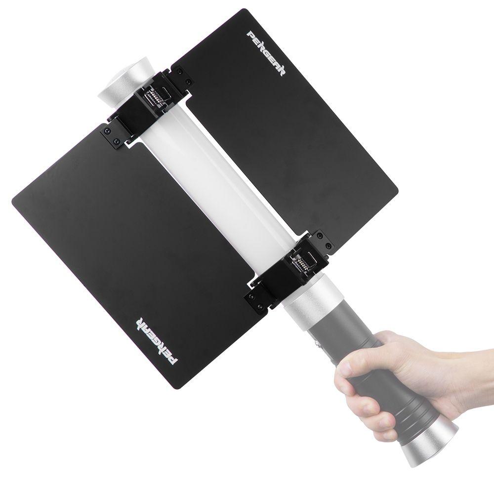 Pergear Barn Door For Handheld Light Video Camera Light Stick Tube