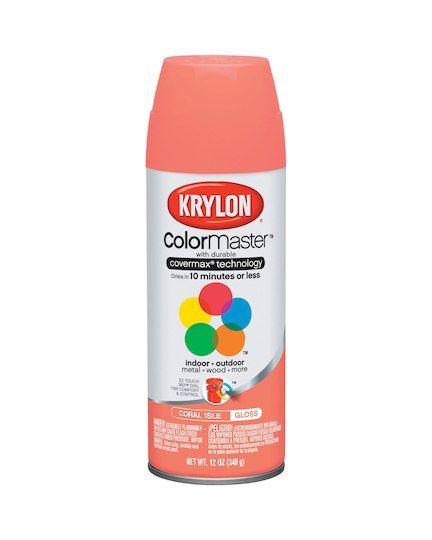 Krylon Colormaster Enamel Spray Paint Gloss Coral Isle 12 Oz Enamel Spray Paint Coral Spray Paint Krylon