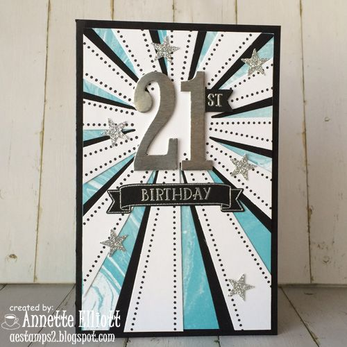 Aestamps A Latte Happy 21st Birthday Sunburst Cards 21st Birthday Cards Special Birthday Cards