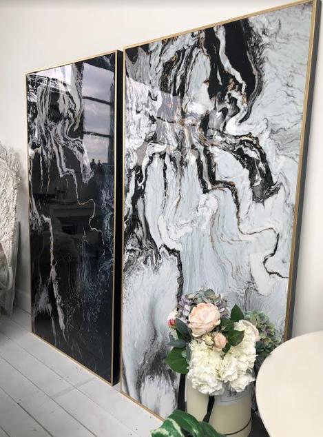 Gold Black White Marble Framed Canvas Berrys Grey Black And White Marble Marble Frame Canvas Frame