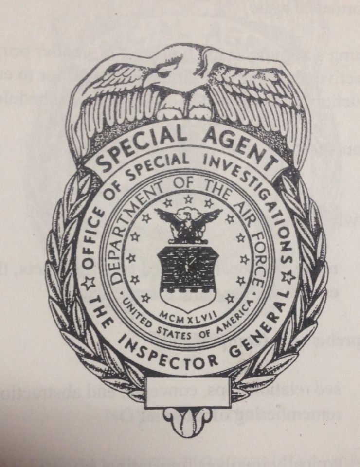 AFOSI Special Agent Badge United states air force, Badge