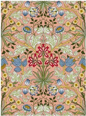 William Morris Hyacinth Wallpaper Design Cross Sch By Whoopicat 8 00