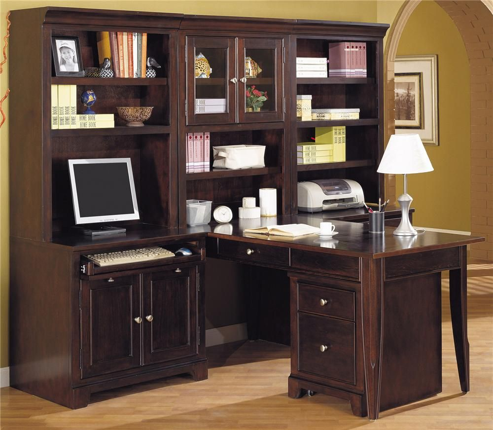 winners only furniture metro l shape computer desk wall unit homeoffice - Winners Only Furniture