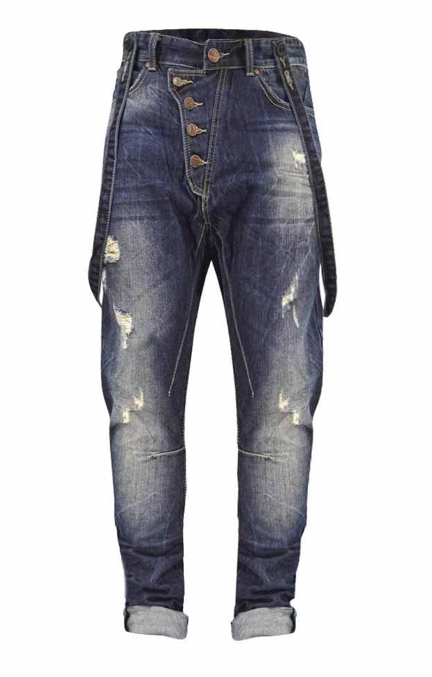 b4a9218060b Ανδρικό dark τζιν με τιράντες | Άνδρας - Jeans/Denim | Metal Denim  Παντελόνια