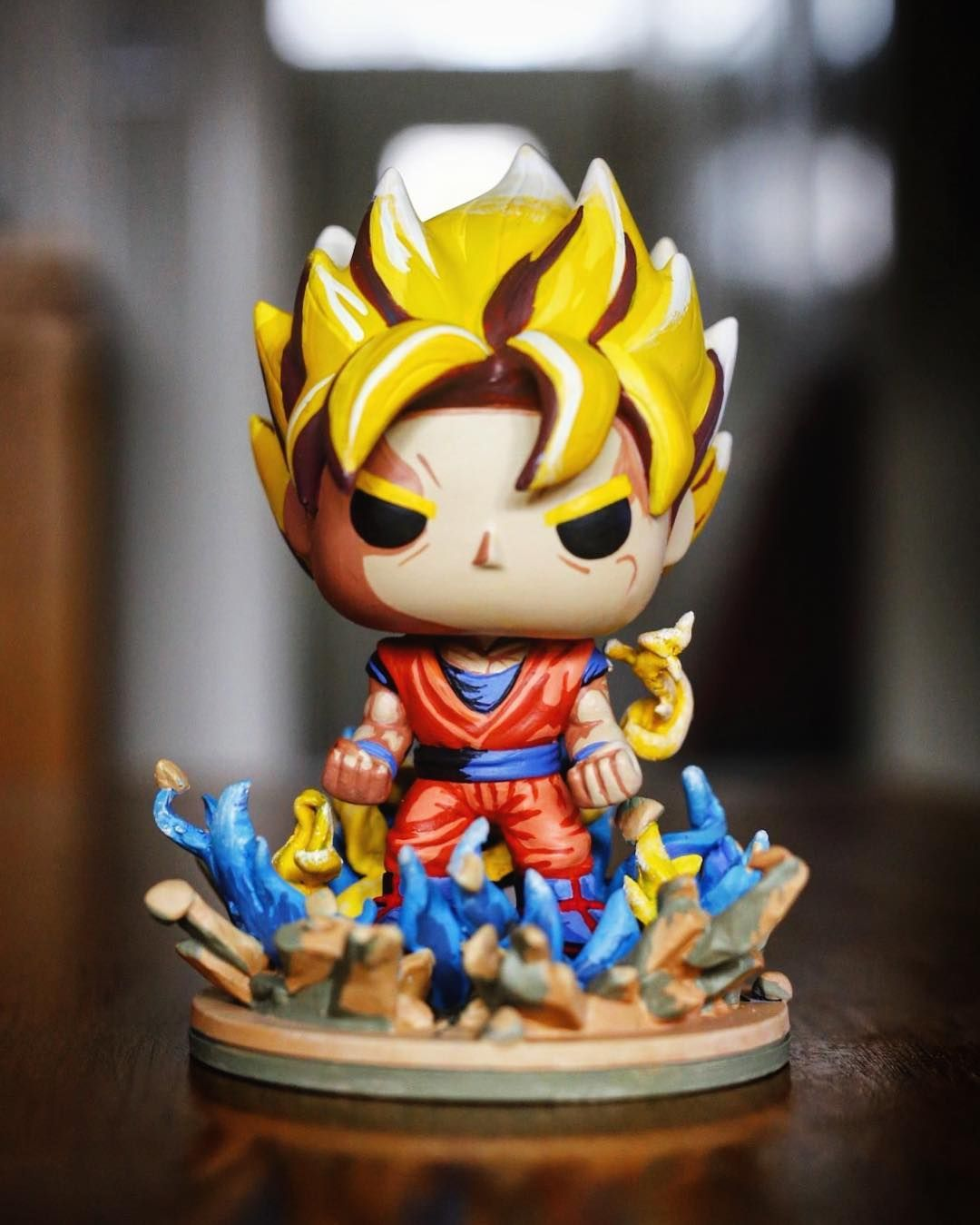 Abbernaffy Customs Cellshade Goku Funko Pop Abbernaffy Customs