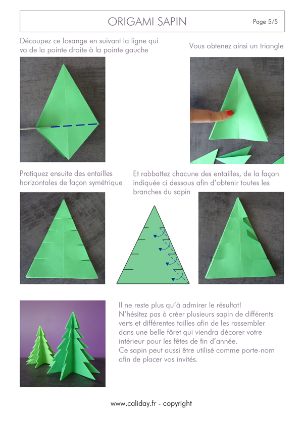 Origami sapin page 5 cr ation manuelle origami xmas cards et christmas - Dessin pintade ...