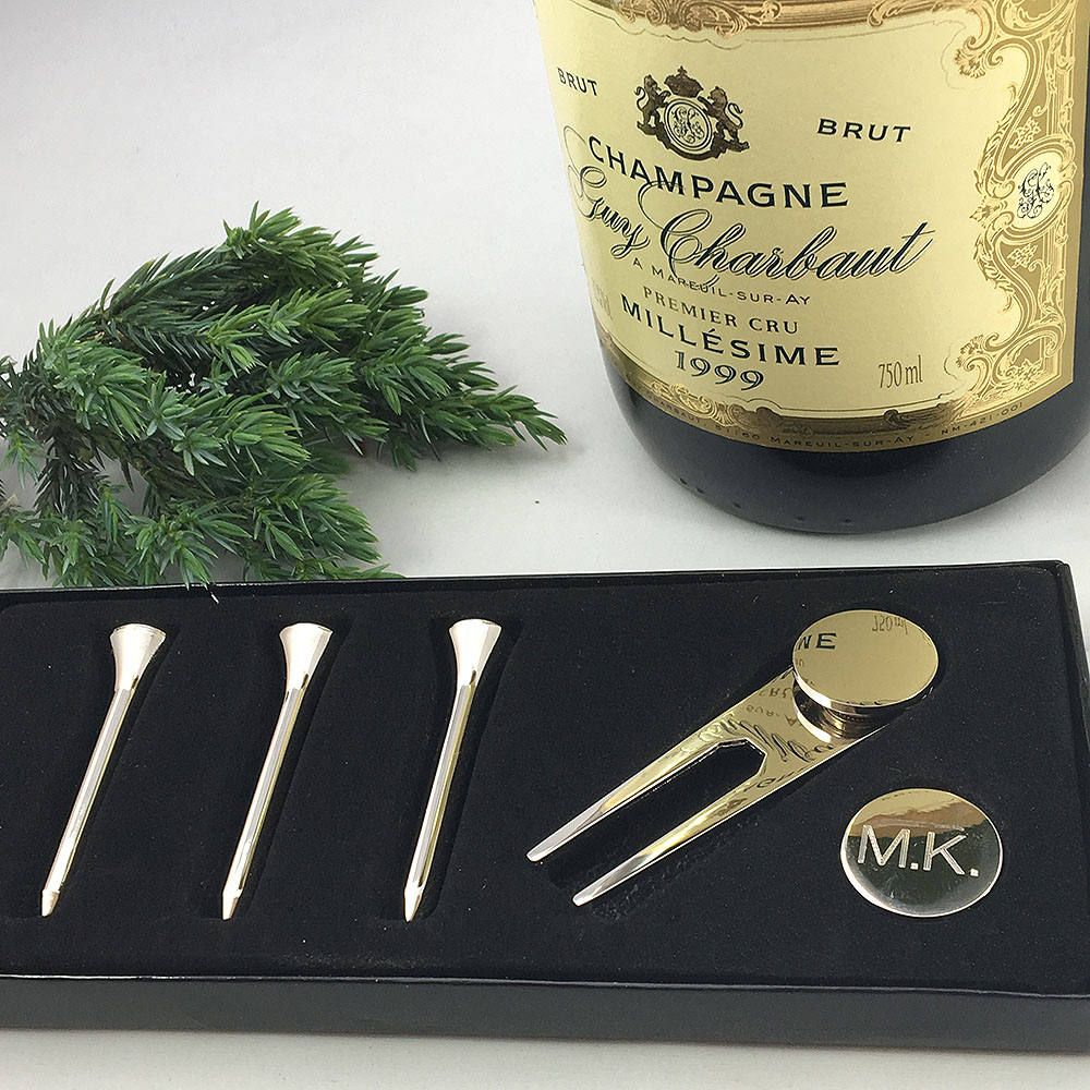 Personalised silver finish golf set by SilverTreats on Etsy