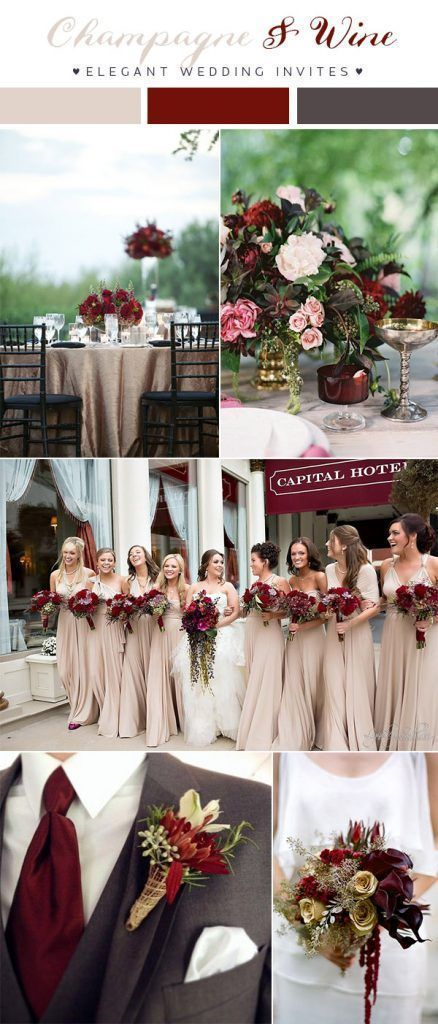 Wine Red And Dark Grey Wedding Color Combo Ideas For 2018 Quickweddingplanning