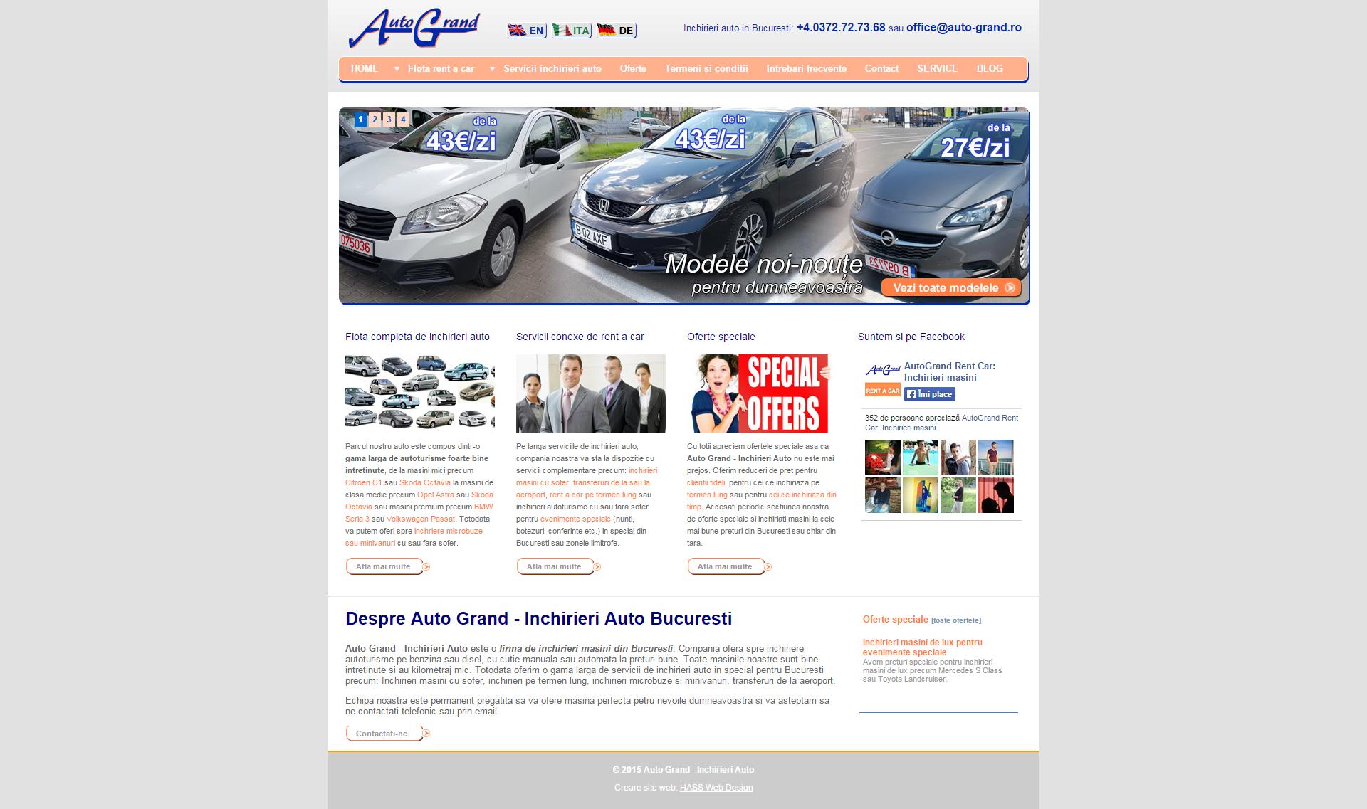 Auto Grand - Inchirieri Auto este o firma de inchirieri masini din Bucuresti
