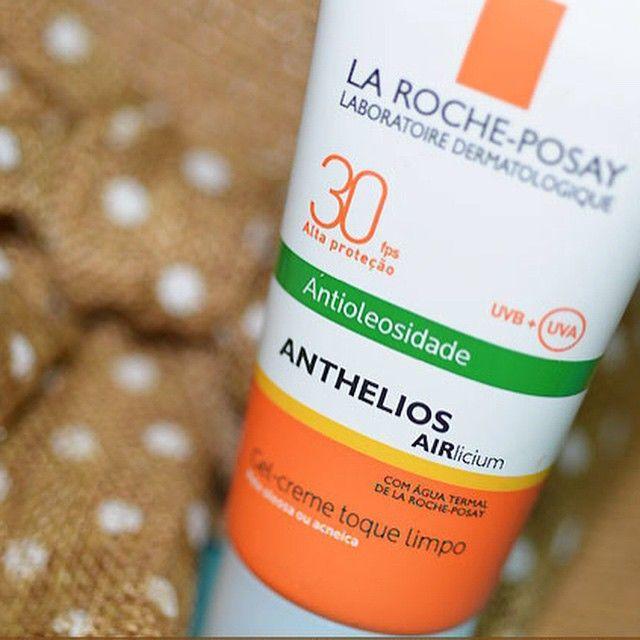 Resenha do novo protetor solar da @larocheposay está no ar. Www.makeupatelier.com.br. #pele