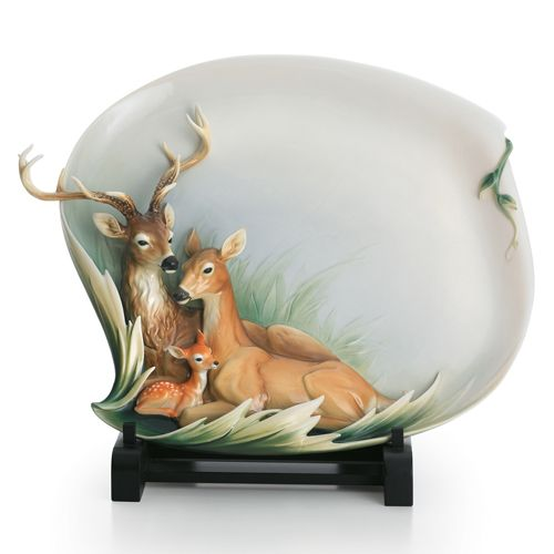 Franz Collection Woodland Grace Deer Platter